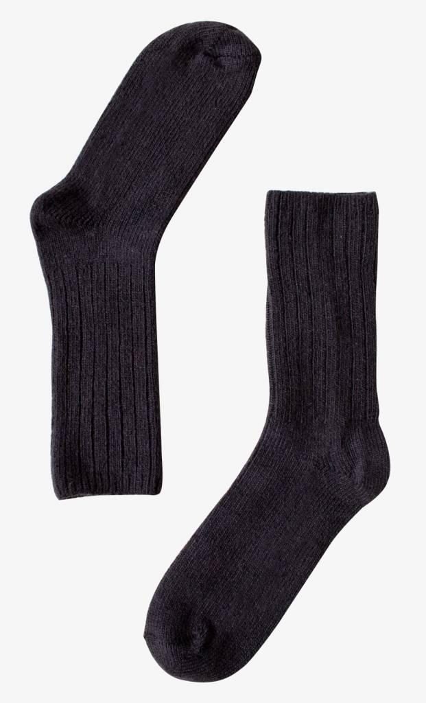 Bonnetier Bas en laine de Mérino Noir