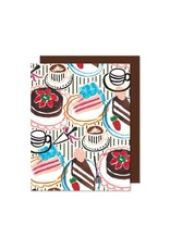 Paperole Carte de souhaits table de desserts