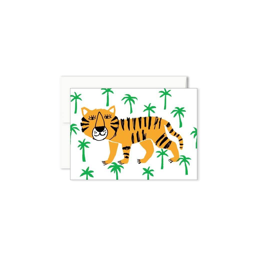 Paperole Tiger Mini Greeting Card