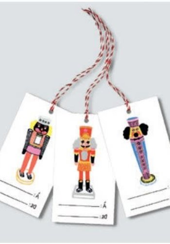 Tags for gifts Nutcracker