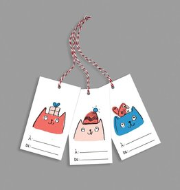 Paperole Tags for gifts Cats