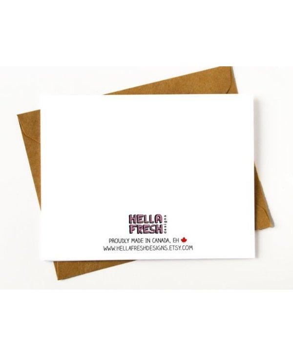 Hellafresh Designs Whore Bridesmaid Greeting Card