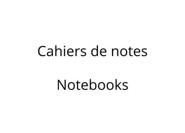 Cahiers de notes