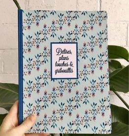 """Merci Bonsoir par Marie-Claude Marquis Large notebook """"Délires, plans louches"""""""