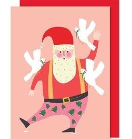 Paperole Carte de souhaits Santa