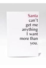 Masimto Carte de souhait Santa can't