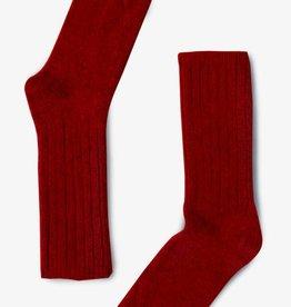 Bonnetier Bas en laine de merino Rouge