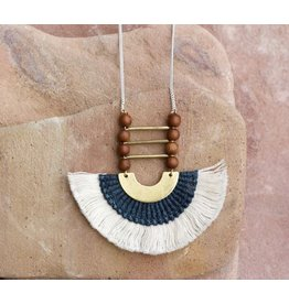 This Ilk Nubian Necklace wood beads