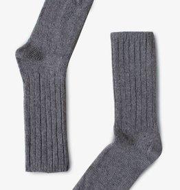 Bonnetier Bas  en laine de Mérino gris