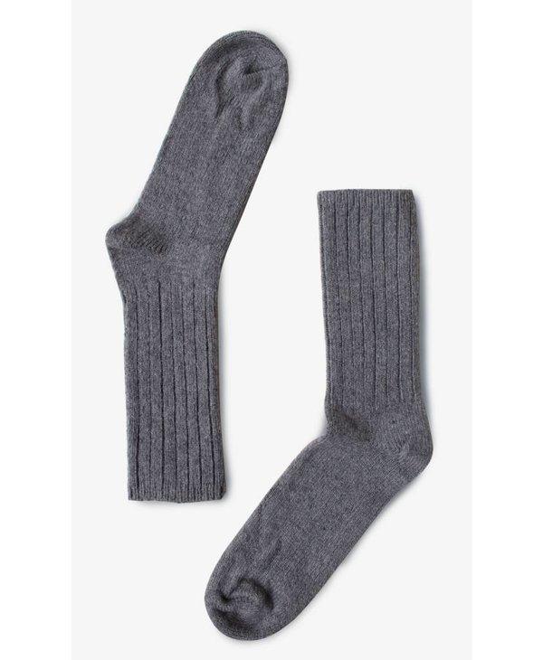 Grey Merino Wool Socks  B-0011