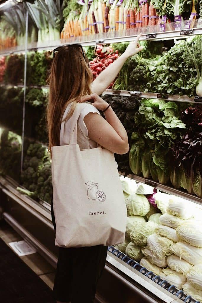 Dans le sac Dans le sac - Le tote pour le marché ''Merci''