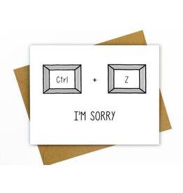 Hellafresh designs Carte I'm Sorry CTRL + Z