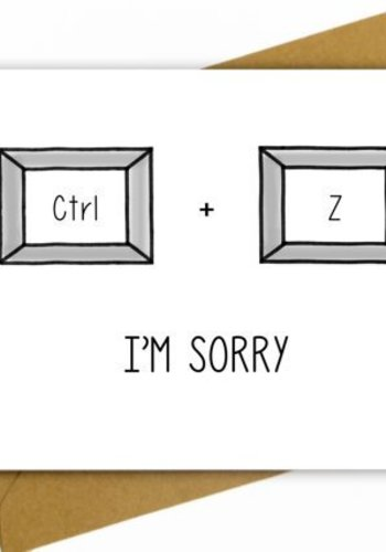 Carte I'm Sorry CTRL + Z