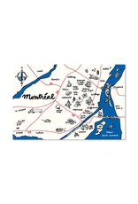 Paperole 8x10 Map of Montreal