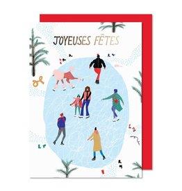 Paperole Carte des fêtes - Patinoire