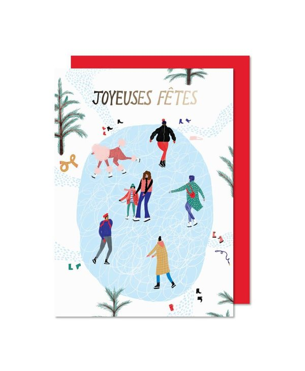 Paperole - Holiday cards - Ice-skating rink