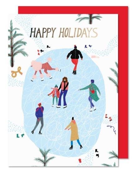 Paperole Paperole - Carte des fêtes - Patinoire