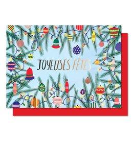 Paperole Carte des fêtes - Guirlande