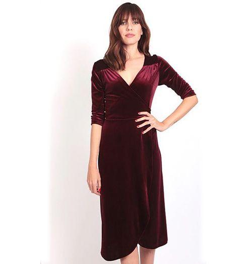 Cameo Velvet wrap dress