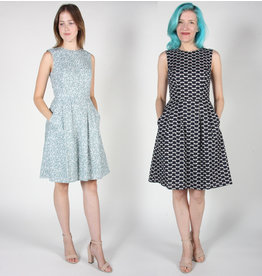Birds of North America Océanite fit and flare dress