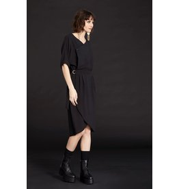 Cokluch Black Star Wrap Dress