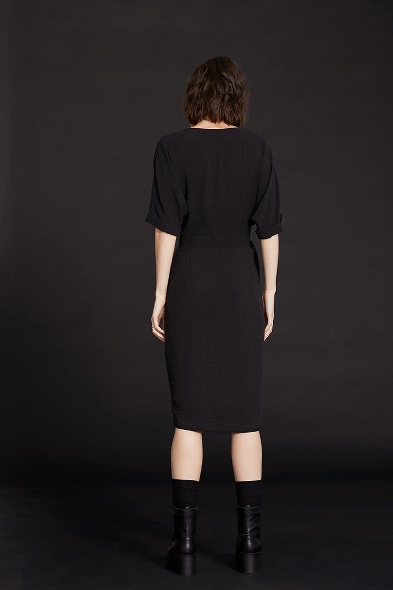 Cokluch Cokluch - Black Star wrap dress