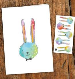 Pico tatoo Carte de souhait - Les charmants lapins