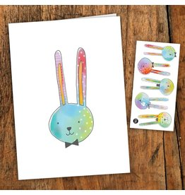 Pico tatoo Greeting card - The charming rabbits