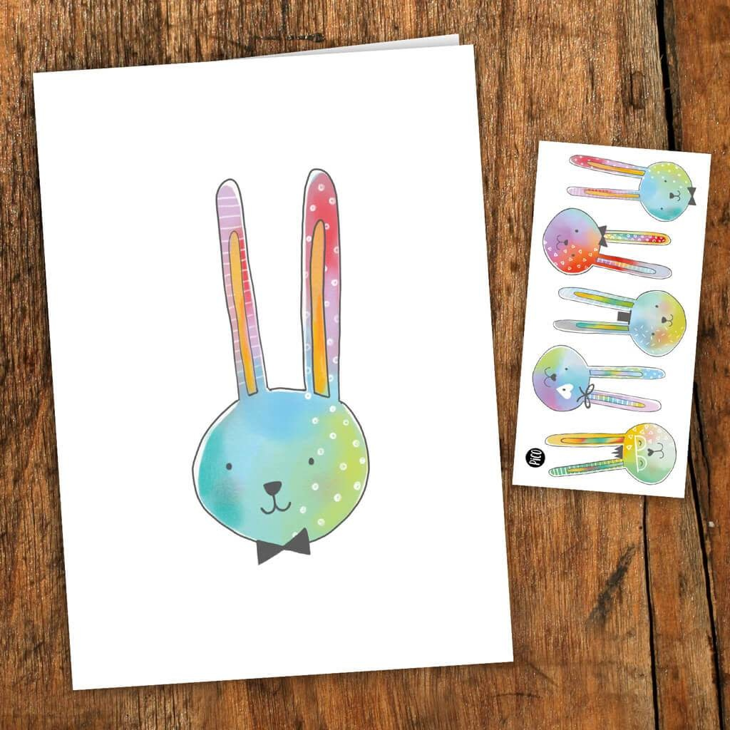 Pico tatoo Pico Tatoo - Greeting card - The charming rabbits