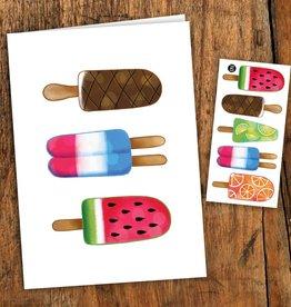 Pico tatoo Carte de souhait - Pops colorés