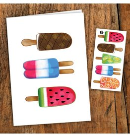 Pico tatoo Greeting card - Colorful pops