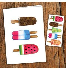 Pico tatoo Greeting card - Colorful pops