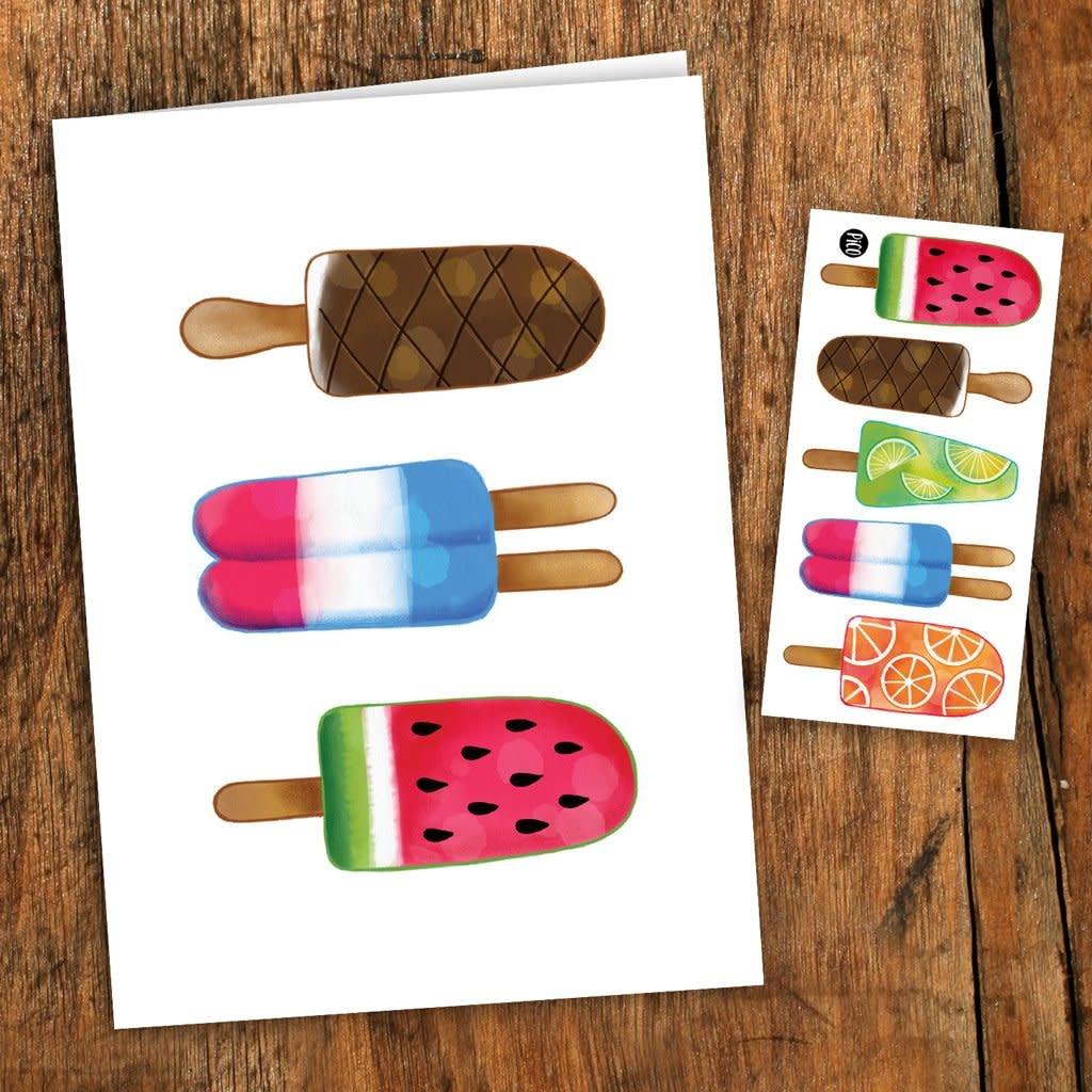 Pico tatoo Pico Tatoo - Carte de souhait - Pops colorés
