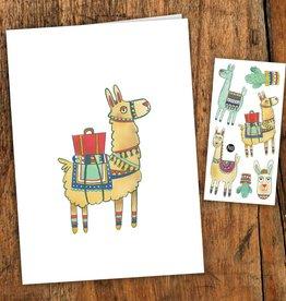 Pico tatoo Greeting card - Noah the alpaca