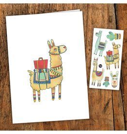 Pico tatoo Greeting card - Noah the alpaca