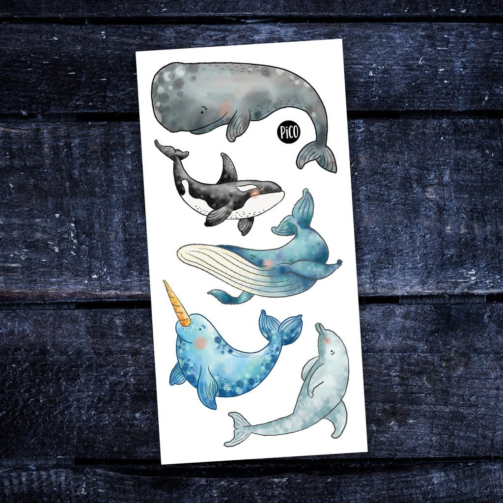 Pico tatoo Pico Tatoo - Temporary Tattoos - The beautiful whales