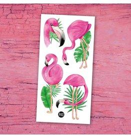 Pico tatoo Temporary Tattoos - Pink Flamingos