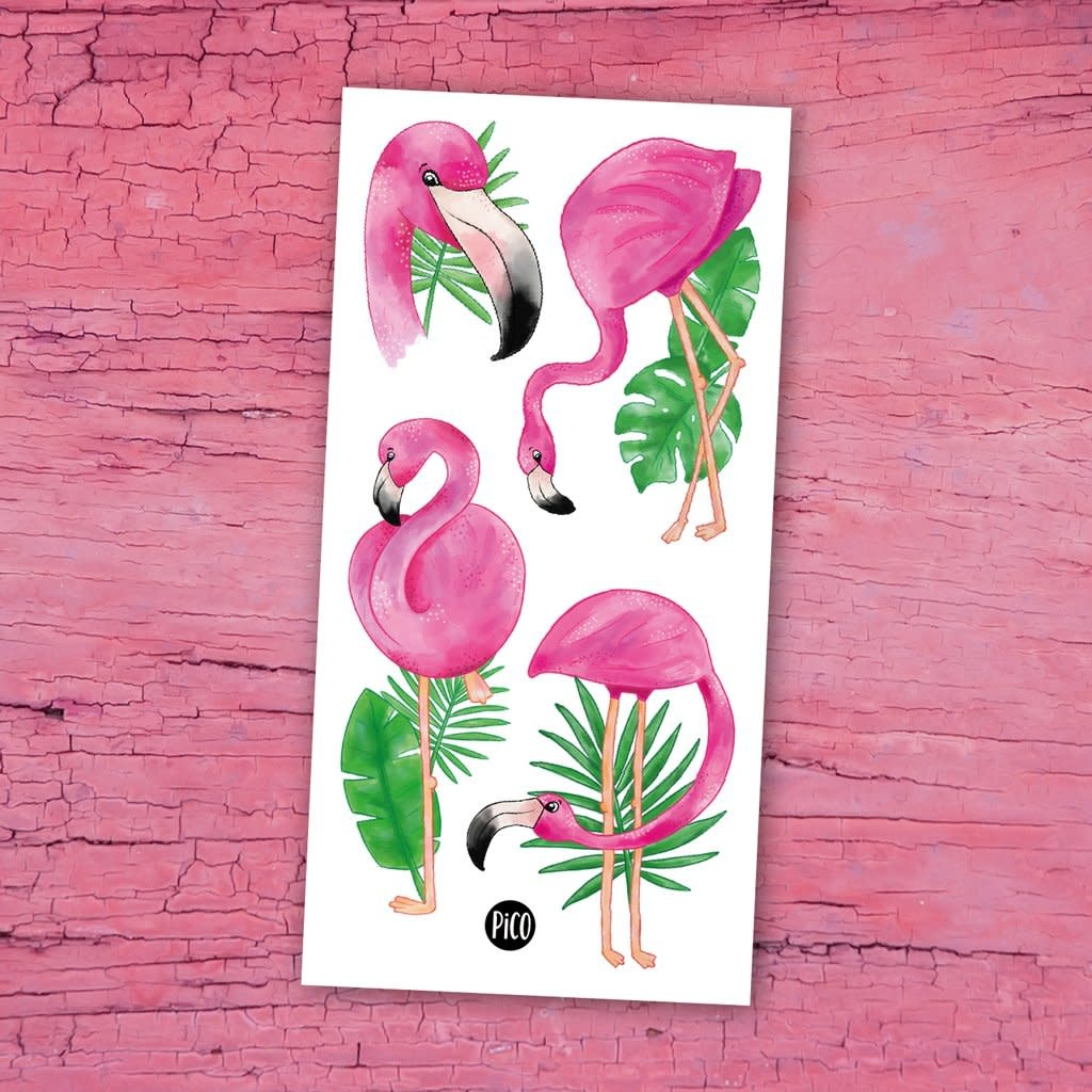 Pico tatoo Pico Tatoo - Temporary Tattoos - Pink Flamingos