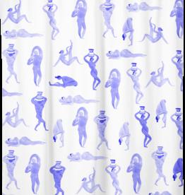 "Costume de Bain Shower Curtain ""Bathers"""