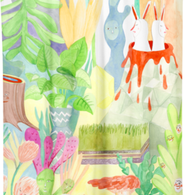"Costume de Bain Shower Curtain ""Garden"""