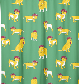 "Costume de Bain Shower Curtain ""Give my Dog a Bath"""