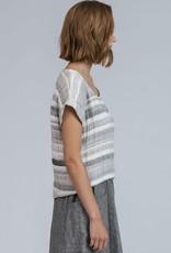 Pillar Pillar - Christiana linen striped top
