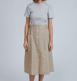 Pillar Bisbee Buttoned Midi Skirt