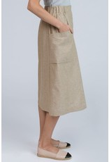 Pillar Pillar - Bisbee Buttoned Midi Skirt