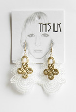 This Ilk This Ilk - Boucles d'oreilles Tied Up Beige