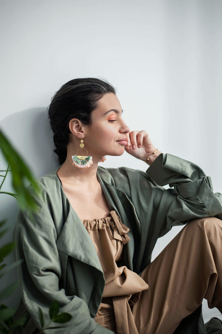 This Ilk This Ilk - Tamy Earrings (White/Green)