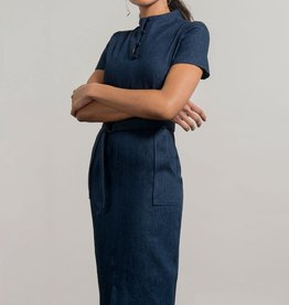 Jennifer Glasgow Dahomey Denim Dress