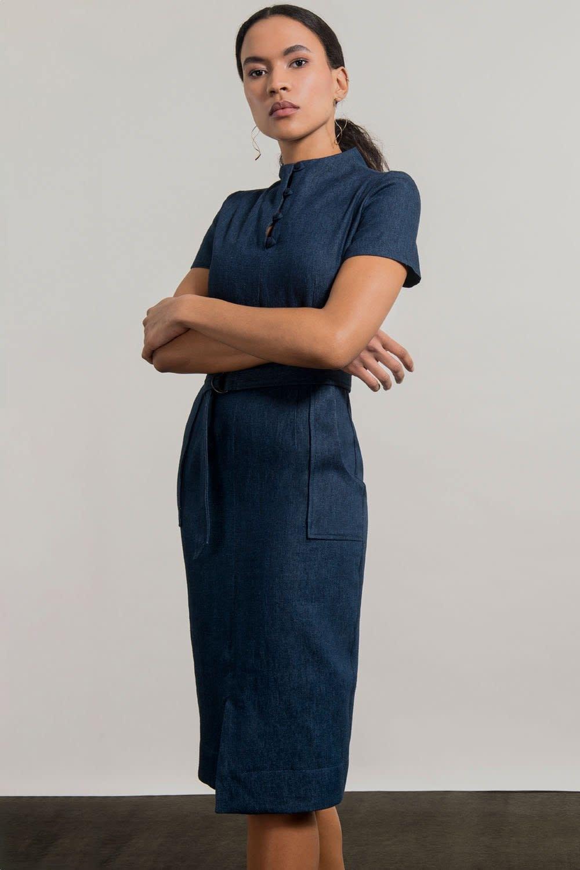 Jennifer Glasgow Jennifer Glasgow - Dahomey Robe Denim