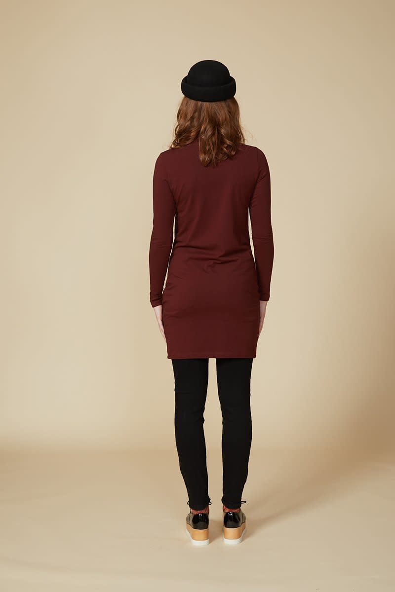 Cokluch Cokluch - AQUARIUS Dress (Burgundy)