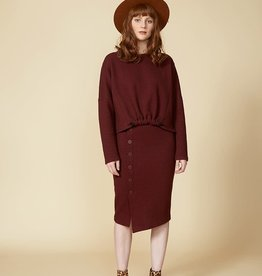 Cokluch BLACK MIRROR Skirt (Burgundy)
